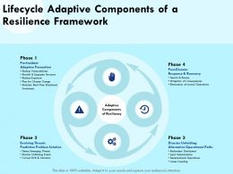 Lifecycle Adaptive Components Of A Resilience Framework Exposure Ppt Powerpoint Presentation Ideas