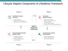 Lifecycle Adaptive Components Of A Resilience Framework Infrastructure Management Services Ppt Slides