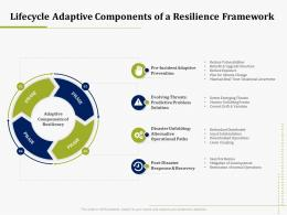 Lifecycle Adaptive Components Of A Resilience Framework IT Operations Management Ppt Ideas Show