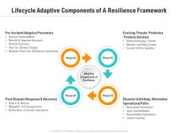 Lifecycle Adaptive Components Of A Resilience Framework Optimizing Business Ppt Inspiration