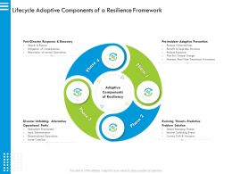 Lifecycle Adaptive Components Of A Resilience Framework Plan Ppt Powerpoint Presentation Portfolio