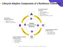 Lifecycle Adaptive Components Of A Resilience Framework Retrofit Ppt Powerpoint Presentation Ideas Maker