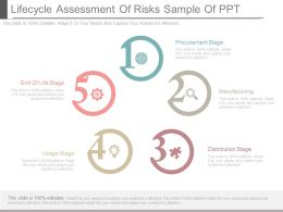 Lifecycle Assessment Of Risks Sample Of Ppt