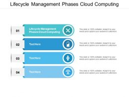 Lifecycle Management Phases Cloud Computing Ppt Powerpoint Presentation Slides Deck Cpb