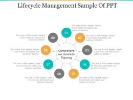 Lifecycle Management Sample Of Ppt