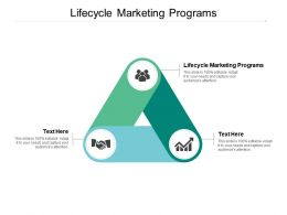Lifecycle Marketing Programs Ppt Powerpoint Presentation Model Cpb