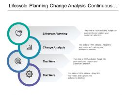 Lifecycle Planning Change Analysis Continuous Process Architecture Definition