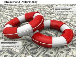 Lifesaver Rings On Dollar Notes For Saving Money