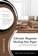 Lifestyle Magazine Mockup One Pager Presentation Report Infographic PPT PDF Document