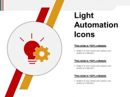 Light Automation Icons Powerpoint Slide Show