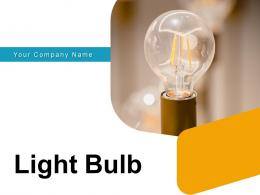 Light Bulb Business Gear Electric Illuminated Incandescent