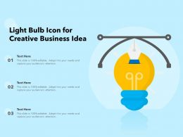 Light Bulb Icon For Creative Business Idea