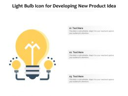 Light Bulb Icon For Developing New Product Idea
