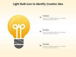 Light Bulb Icon To Identify Creative Idea