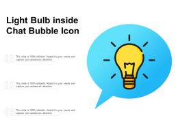 Light Bulb Inside Chat Bubble Icon