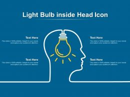 Light Bulb Inside Head Icon