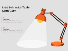 Light Bulb Inside Table Lamp Icon