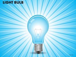 Light Bulb Powerpoint Presentation Slides