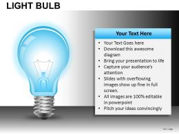 Light Bulb Powerpoint Presentation Slides DB