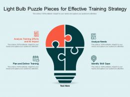 Light Bulb Puzzle Pieces For Effective Training Strategy