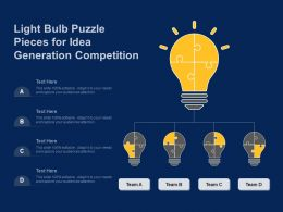 Light Bulb Puzzle Pieces For Idea Generation Competition