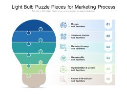 Light Bulb Puzzle Pieces For Marketing Process