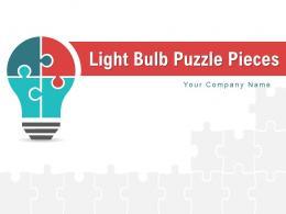 Light Bulb Puzzle Pieces Management Performance Business Development Competition
