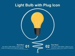 Light Bulb With Plug Icon