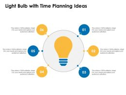 Light Bulb With Time Planning Ideas Innovation Management Ppt Powerpoint Samples