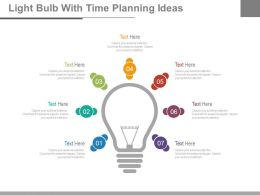 Light Bulb With Time Planning Ideas Powerpoint Slides