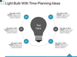 Light Bulb With Time Planning Ideas Ppt Templates