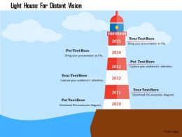 Light House For Distant Vision Flat Powerpoint Design