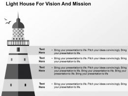 Light House For Vision And Mission Flat Powerpoint Design