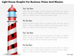 Light House Graphic For Business Vision And Mission Powerpoint Template