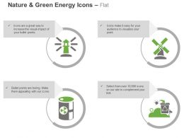 Light House Windmill Nuclear Energy Recycle Ppt Icons Graphics