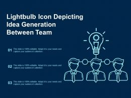 Lightbulb Icon Depicting Idea Generation Between Team