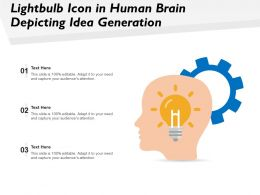 Lightbulb Icon In Human Brain Depicting Idea Generation