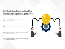 Lightbulb Icon Representing Idea Brainstorming Between Employees