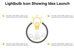 Lightbulb Icon Showing Idea Launch