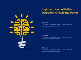 Lightbulb Icon With Brain Depicting Knowledge Power