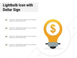 Lightbulb Icon With Dollar Sign