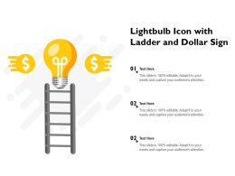 Lightbulb Icon With Ladder And Dollar Sign