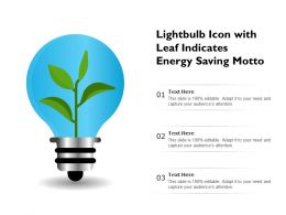 Lightbulb Icon With Leaf Indicates Energy Saving Motto