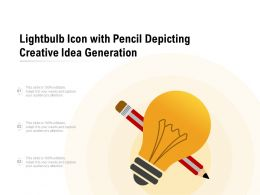 Lightbulb Icon With Pencil Depicting Creative Idea Generation
