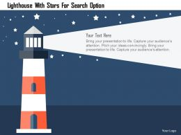 Lighthouse With Stars For Search Option Flat Powerpoint Design