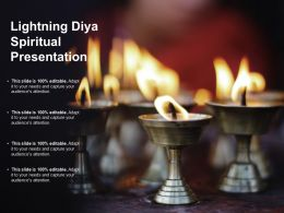 Lighting Diya Spiritual Presentation