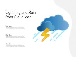 Lightning And Rain From Cloud Icon