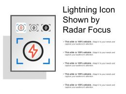 Lightning Icon Shown By Radar Focus