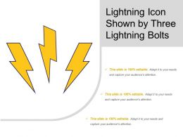 Lightning Icon Shown By Three Lightning Bolts