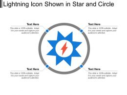 Lightning Icon Shown In Star And Circle